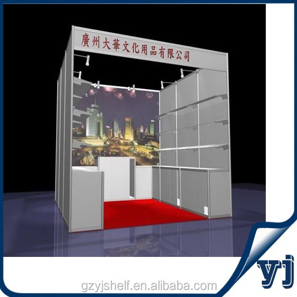 Hot Top Trade Show Portable 3x3 Exhibition Booth/Aluminum Standard Booth
