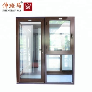 Aluminum Glass Doors with Casment Window