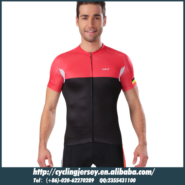 2015 Cheji Shiro style black red color cycling wear Good quality fabric accept custom