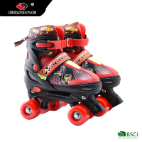 size adjustable outdoor speed quad roller skate with PU flash wheel for kids