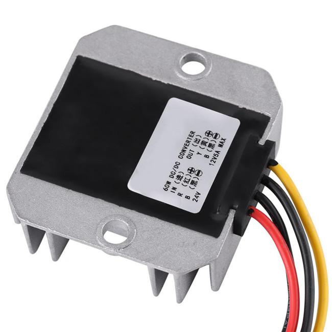 5A 60W Power Converter,DC-DC 24V To 12V Voltage Step Down Module Power Supply Voltage Regulator