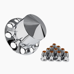 popular sharp end chrome ABS plastic truck rear axle cover for truck use