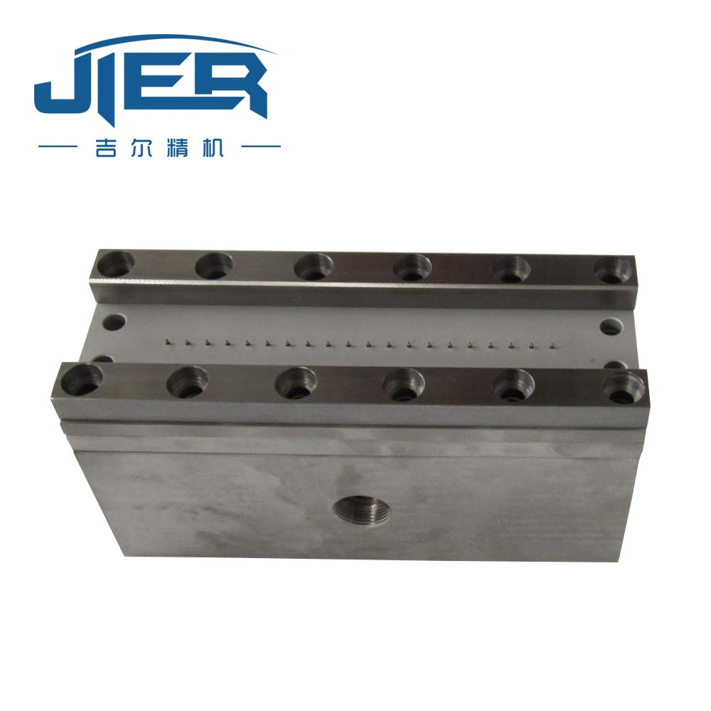 High Hardness Stainless Steel Extrusion Die Head for PP Meltblown Yarn Making CNC Turning Parts