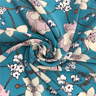 Custom natural digital printed 70 cotton 30 silk fabric flower silk fabric blended