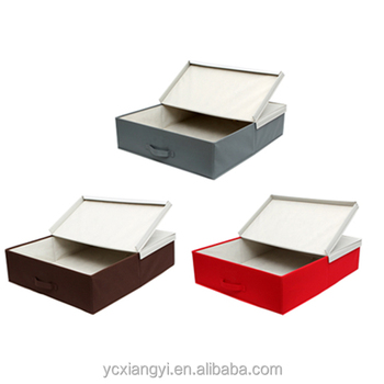 Collapsible Non Woven Quilt Shoes Clothing Under Bed Storage Box Sy Underbed