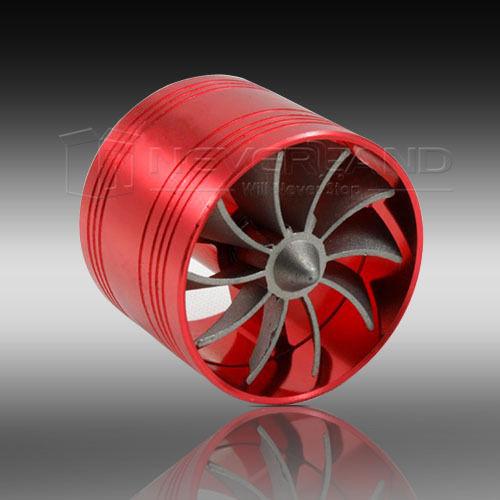 Universal автомобиль воздушный потребление газ топливо заставка Turbo зарядное устройство турбины вентилятор красный A20
