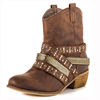 high quality genuine leather with rivets and eyelets design for women cowboy boot