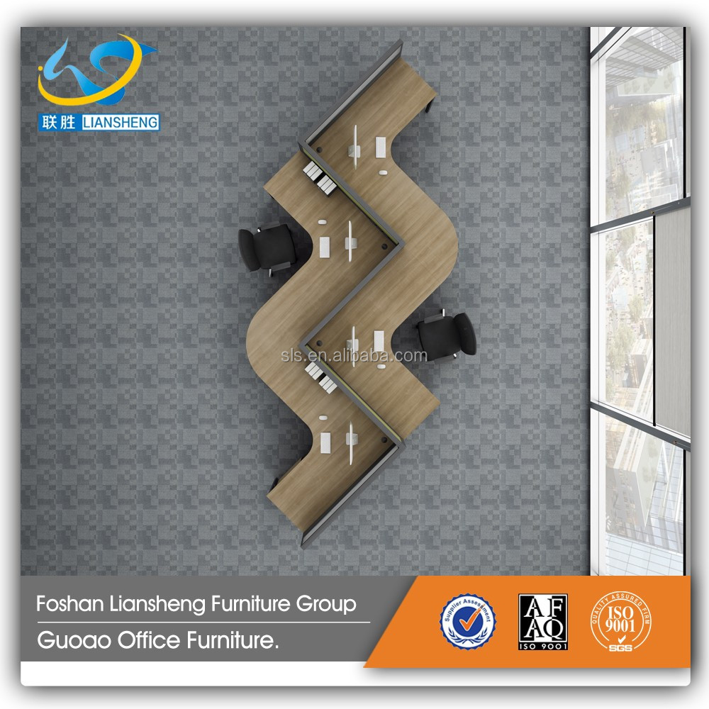Wholesale office furniture S shape new design 4 person office computer workstation GAD4009