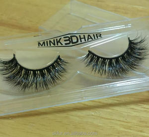 Premium quality custom packaging 3d bulk macy real mink belle lashes with clear band