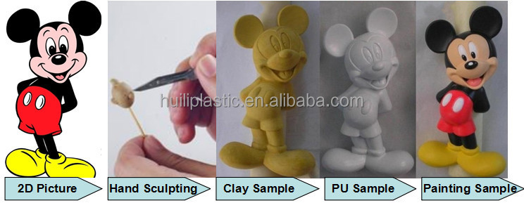 custom pvc hair transplant figure toys , simulated PVC 3D action figures, customized plastic PVC figure