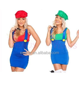 Sexy Girls Clothing High Quality Mario And Luigi Costume Women Mario Bros Woman Costume BWG7350  sc 1 st  Alibaba & Sexy Girls Clothing High Quality Mario And Luigi Costume Women Mario ...