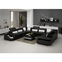 Turkish style furniture corner design sectional u shape sofa set