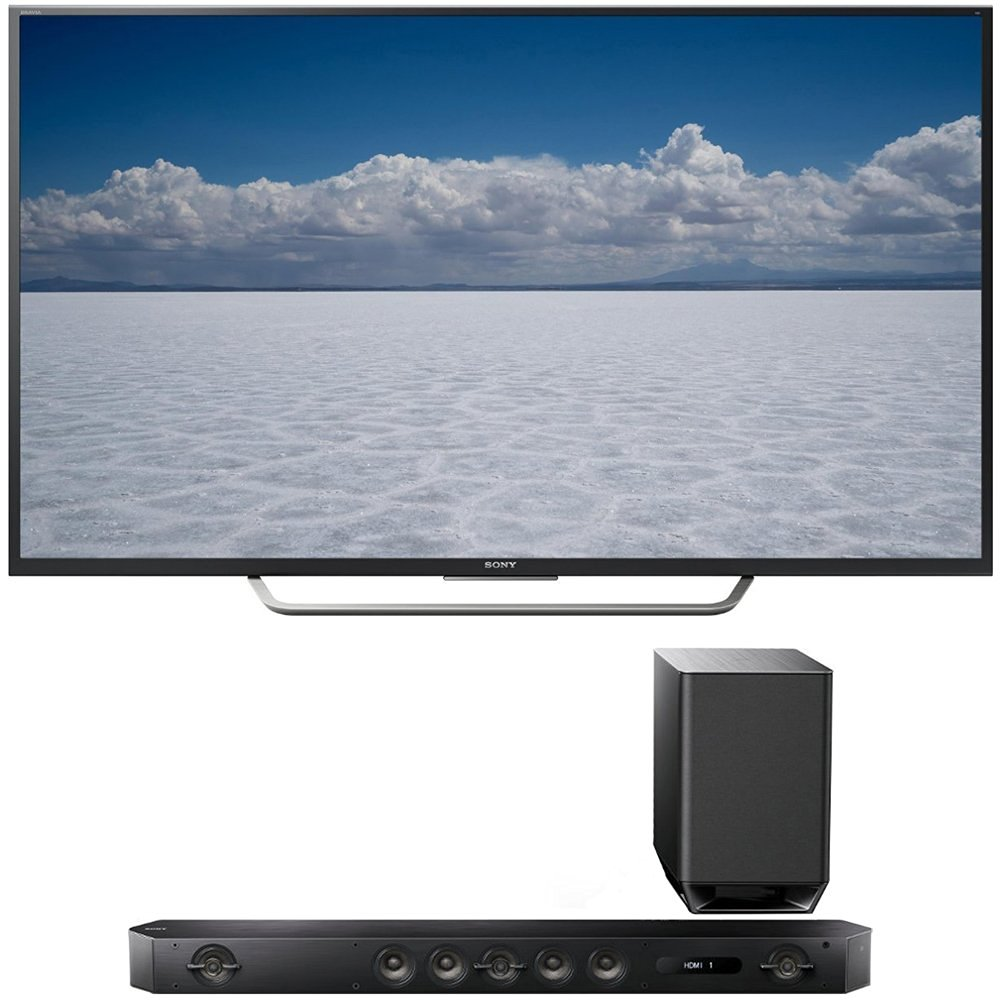 """Sony XBR-55X700D - 55"""" Class 4K Ultra HD TV + Sony HT-ST9 Hi-Res 7.1 Channel Sound Bar with Wireless Subwoofer"""