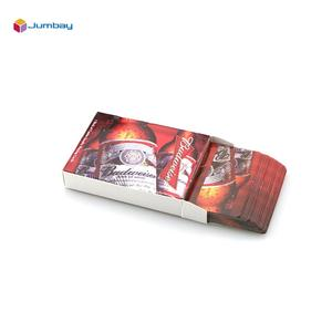 Custom brand advertising supplier advertise type logo services marked recycled drinking tourism bank adult playing poker card