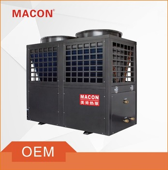 Commercial EVI Air source heat pump hot water heaters monoblock type for low temperature area