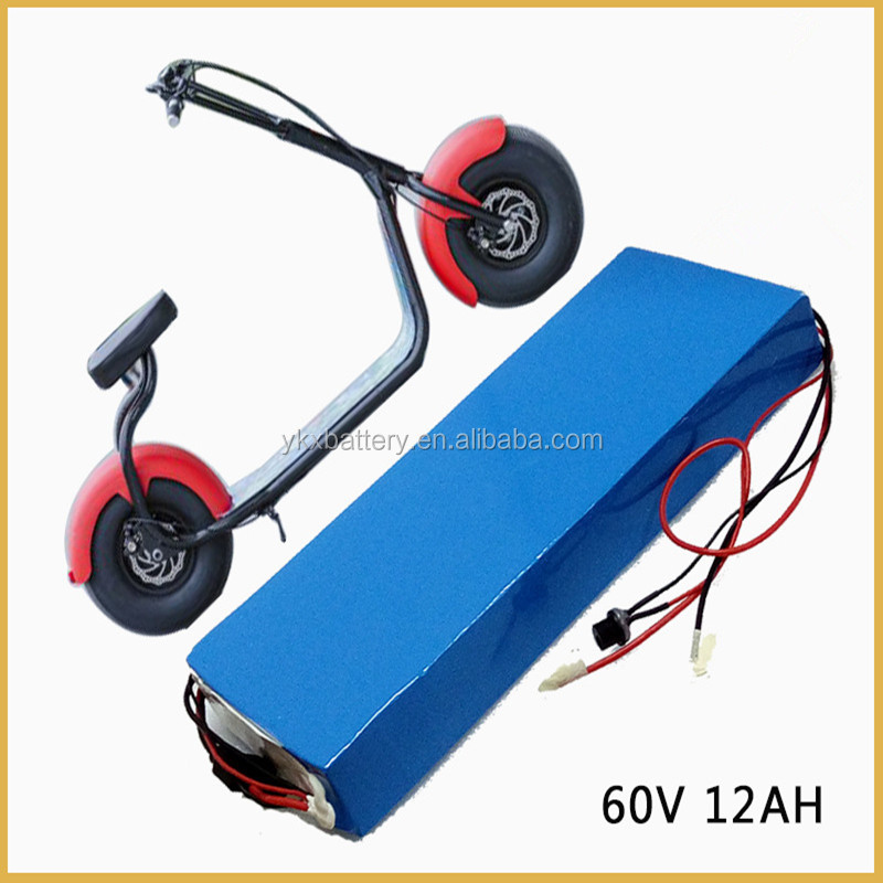 Factory Wholesale Rechargeable li lion li-ion lithium 60v 12ah electric scooter battery