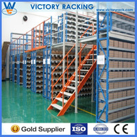 Medium Duty rack support Mezzanine Rack Floor System with Office Area Warehouse Racking 2-tier Steel Platform CE ISO and SGS