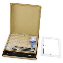 iPad 4 Front Glass/Digitizer Touch Panel Full Assembly - White