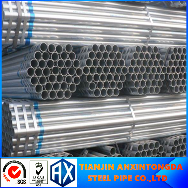ASTM A53 hot dip galvanized steel pipe/bundy pipes/brake tube q345 galvanized steel pipe price with high quality