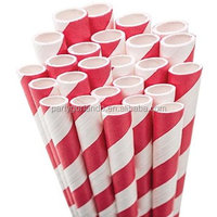 red heart printing drinking paper decoration straws