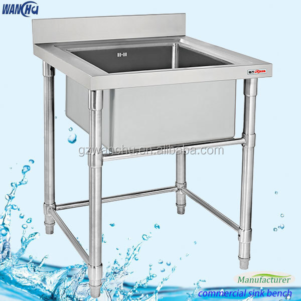 Unique Industrial Stainless Steel Sink Table/Square Single Standing Kitchen  Sink Work Table Design/