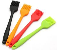 Heat Resistant Chef Kitchen Utensil Silicone Basting Brush for BBQ Baking Pastry Marinades