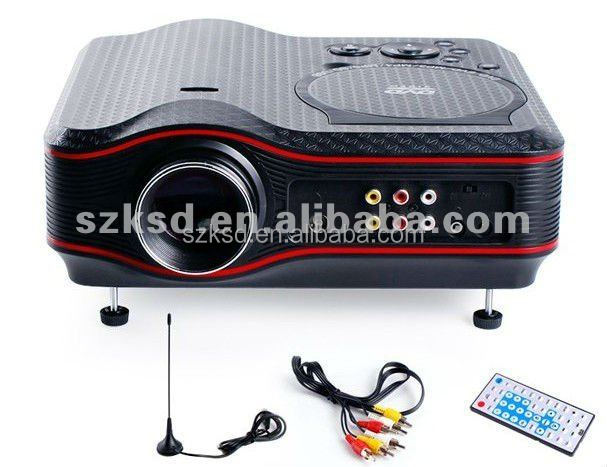 LED Projector,Home theatre cinema projector with DVD/USB/TV 70 Ansi lumens