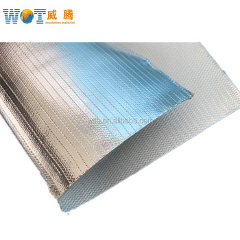 Abrasion Resistant Aluminium Foil Glass Fiber Cloth 0 45mm Heat Insulation  - Buy Anti-friction 3732 Fiberglass Fabric Coated With Aluminum Foil,Wear