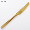 Matte Gold Steak knife