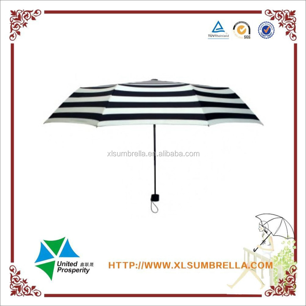 Striped Folding Sun and Rain Super Umbrella