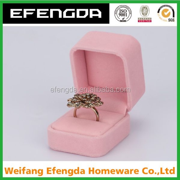 Wholesale antique style paper ring box luxury custom jewelry wedding velvet ring box