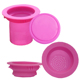 folding Silicone Collapsible Coffee tool infuser for china cup business trip car driving , tea maker for drink rose filter