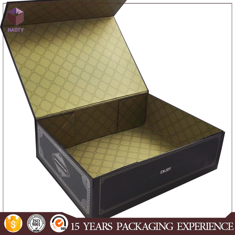 Customized folding printed shopping square hat storage paper box