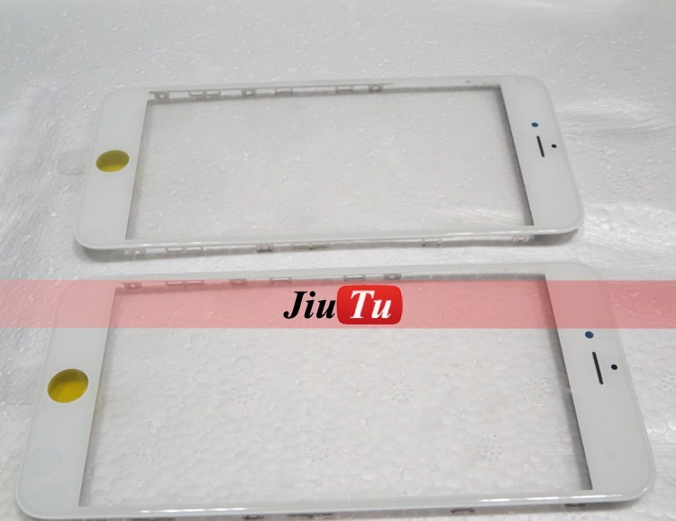 A+ Replacement Front Touch Screen Glass Lens For 6s Plus 5.5'' Touch Panel Installed Frame Lens OCA laminating