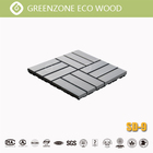 Black Composite Waterproof Outdoor Decking Tile Custom Color Black Grey Garden Composite Wpc Coextrusion Decking