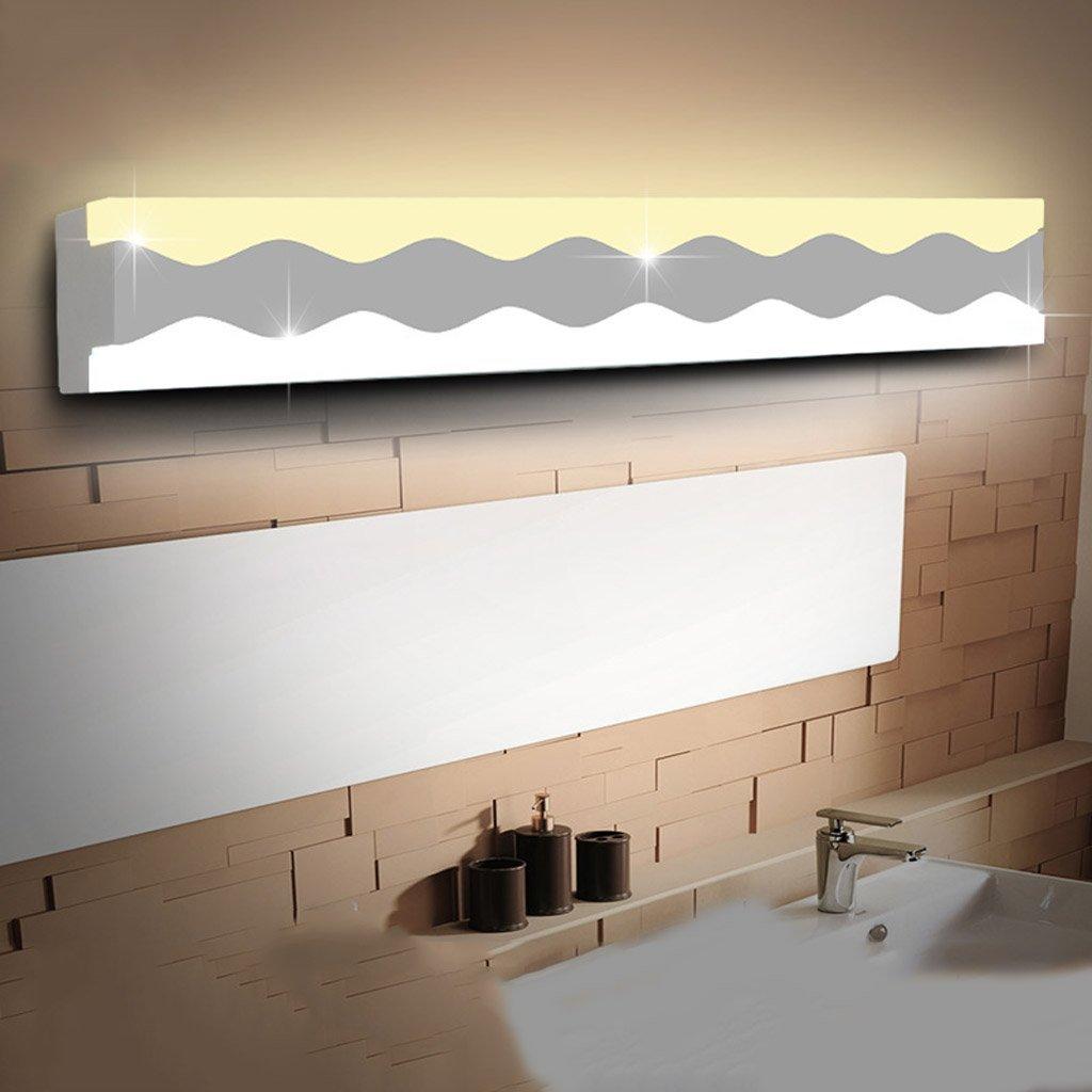 Fu Man Li Trading Company Acrylic LED Mirror Front Lamp Bathroom Lamp Toilet Mirror Light Simple Modern Lighting A+ ( Size : 50cmLED12W )