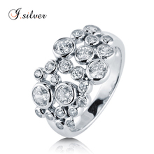 Wholesale 925 sterling silver jewelry CZ Bubble ring for party R500314