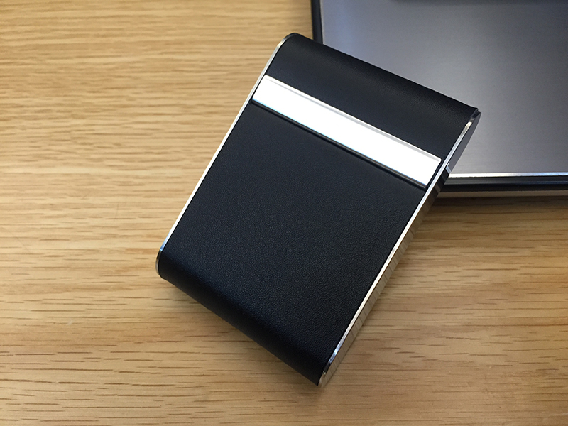 Black Metal Cigarette Pack Aluminum Case Magnetic Cigarette Case