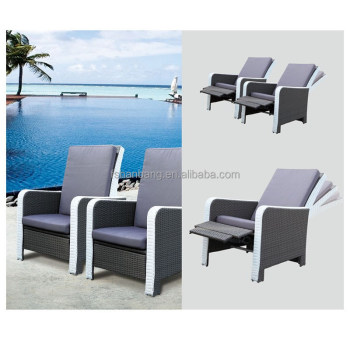 Outdoor High Back Rattan Recliner Reclining Chair