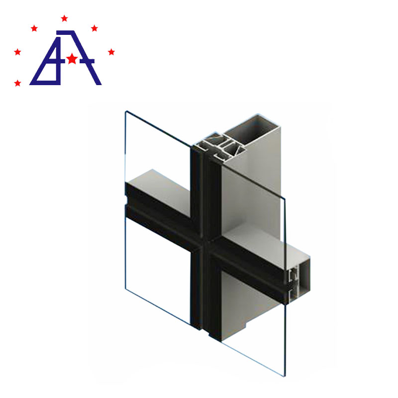 6061 Aluminium Insulated Curtain Wall Aluminium Profile