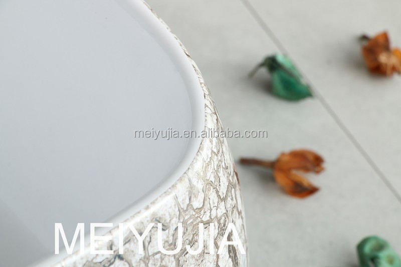 chaozhou good quality ceramic grey & white color basin