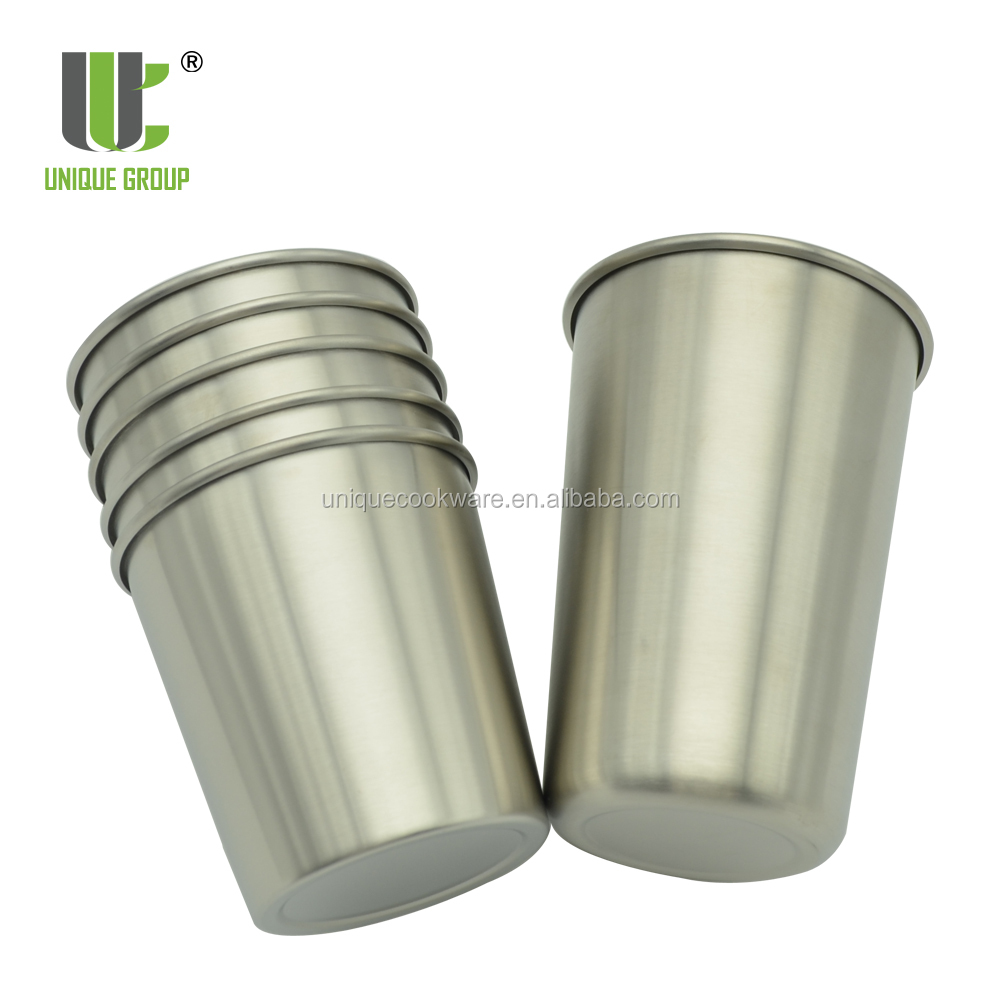 Unique Innovation 10oz 16oz Pint Tumbler Kids Toddler Stainless Steel Sport Cup for Camping Hiking