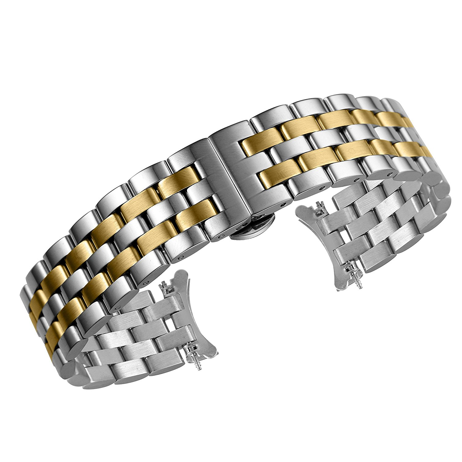 SUKEQ For Fitbit Alta HR and Alta Bands Metal Bracelet Jewelry Replacement Strap Bead Wristband Elastic Stretch Bracelet Accessories