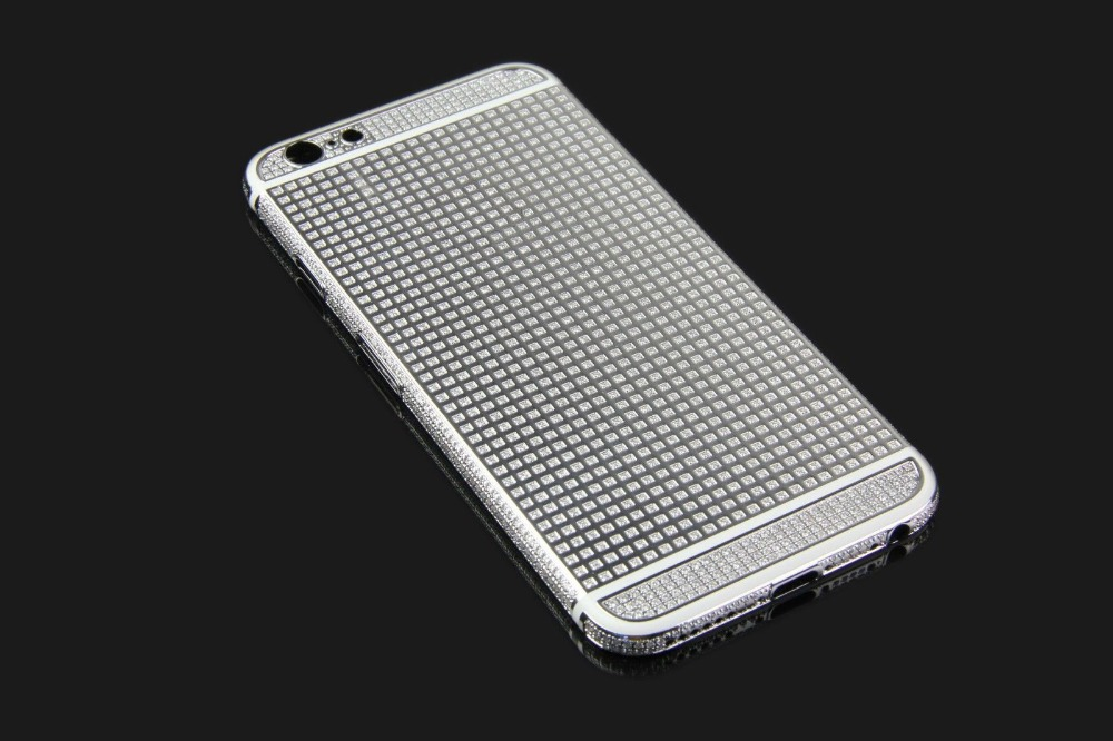 Silver electroplating for iPhone 6 24k gold plated crystal housing