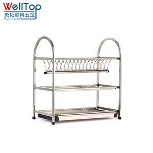 3 tier stainless steel kitchen dish drainer VT-09.004