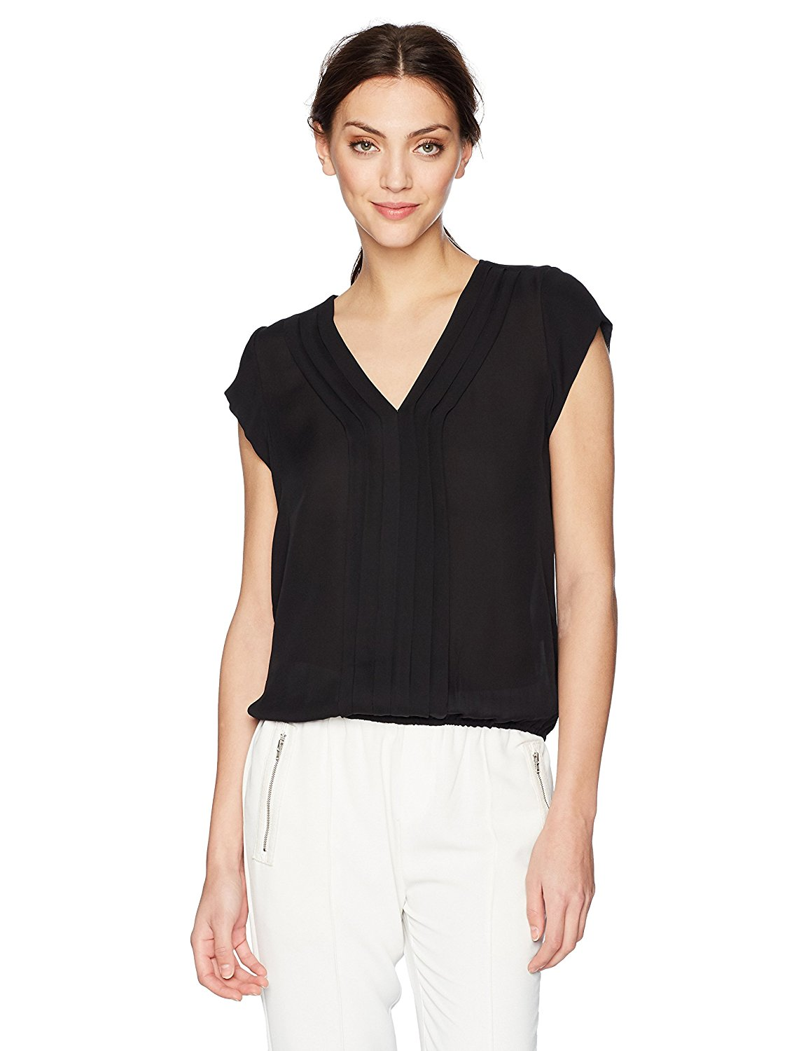 f110126511f7e Get Quotations · Joie Women s marcher Silk Pintuck-Pleated Blouse