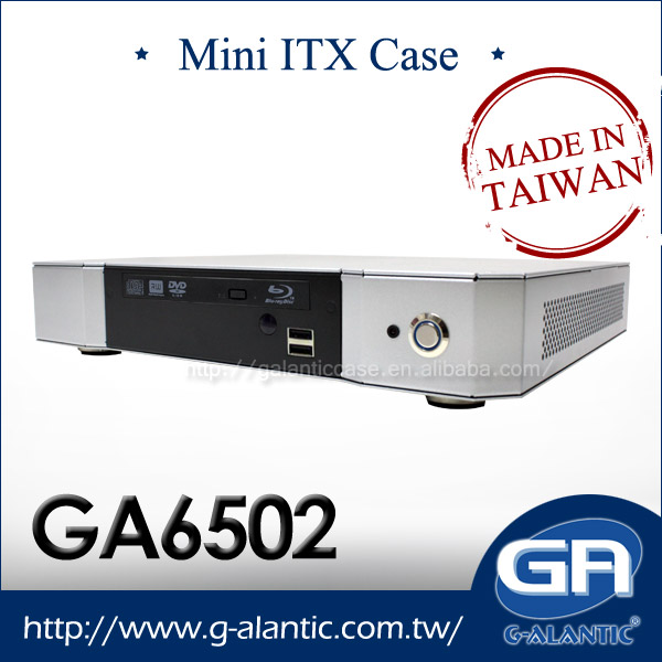 GA6502 - Home Theater pc thin Mini ITX computer mini media center pc case