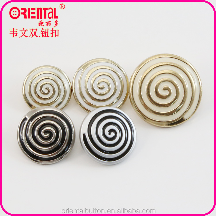 enamel metallic color plastic ABS garments button