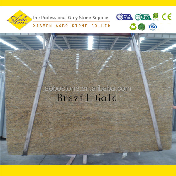 Brazil Gold granite countertops golden crema granite slabs