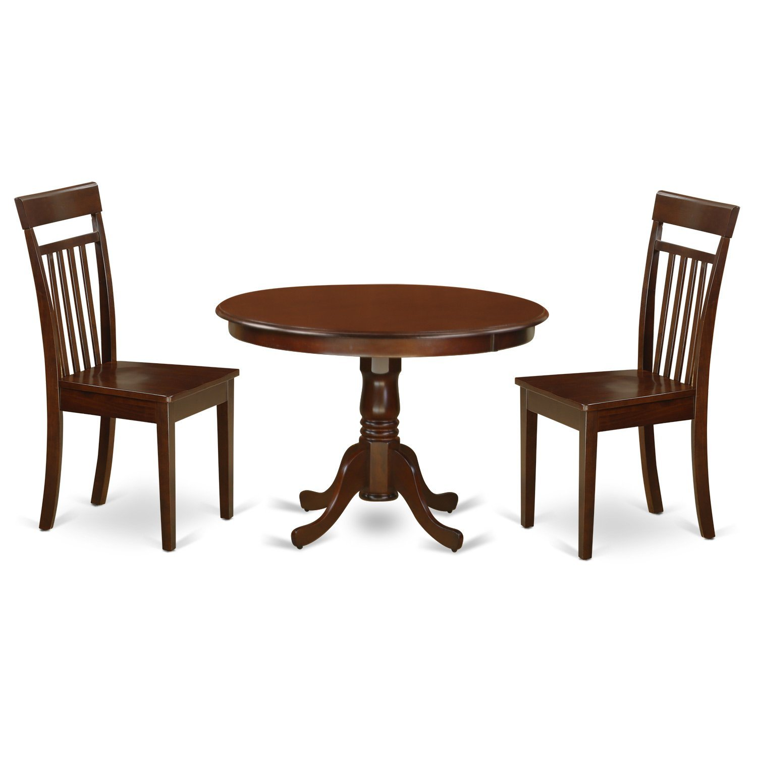Get quotations · east west furniture hlca3 mah w 3piece hartland set with one round 42in dinette